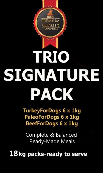 """Signature Pack Trio"" 3 flavours 18 x 1kg"