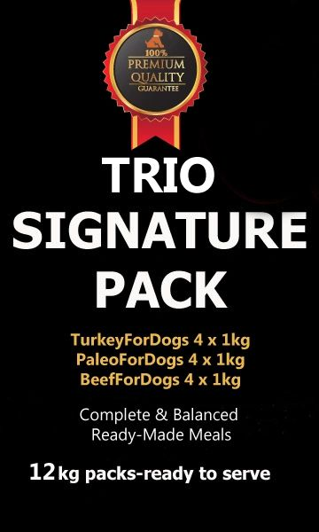 """Signature Pack Trio"" 3 flavours 12 x 1kg"