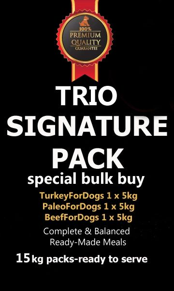 """Signature Pack"" TRIO (Toy to Giant Breeds 15 kg Pack/Multi Dog Owners)"