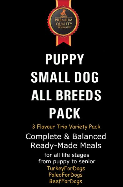 """Puppy & Small Dog Pack"" TRIO 12 x 500g Packs"