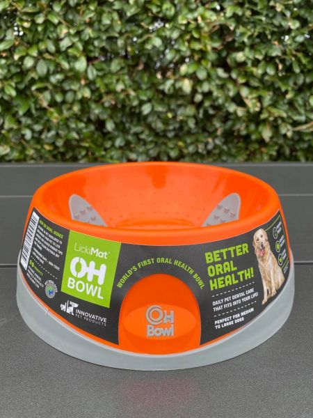Oh Bowl Slow Food Tongue Cleaning Dog Food Bowl - Medium