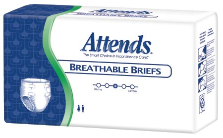 Attends Breathable Briefs HEAVY ABSORBENT(Diapers)-Large 72ct.