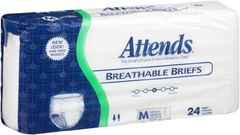 Attends Breathable Briefs HEAVY ABSORBENT(Diapers)-Medium 96ct.