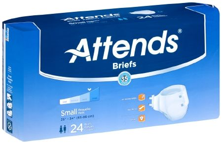 Attends Breathable Briefs EXTRA ABSORBENT/SEVERE (Diapers) SMALL 96ct.