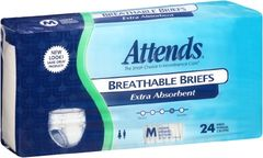 Attends Breathable Briefs EXTRA ABSORBENT/SEVERE (Diapers) MEDIUM 96ct.