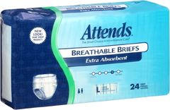 Attends Breathable Briefs EXTRA ABSORBENT/SEVERE (Diapers) LARGE 72ct