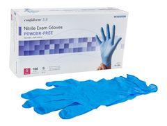 Exam Glove McKesson Confiderm 3.8 NonSterile Powder Free Nitrile Ambidextrous Textured Fingertips Blue SMALL 1000/CS