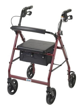 "Rollator Aluminum, 7.5"" Caster Wheels RED"