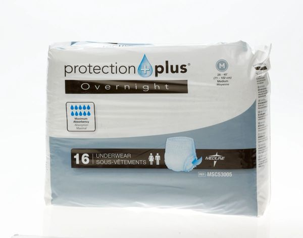 Protection Plus Overnight Protective Underwear 64/CS