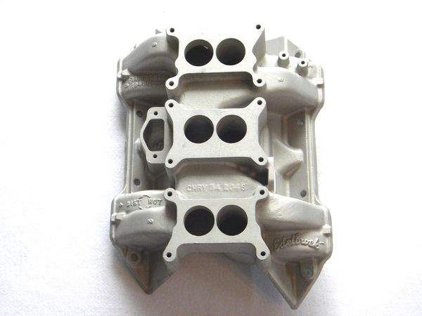1969 1/2 MOPAR A12 440 SIX PACK SIX BARREL EDELBROCK ALUMINUM INTAKE  MANIFOLD PN 3412046 SUPER BEE ROAD RUNNER