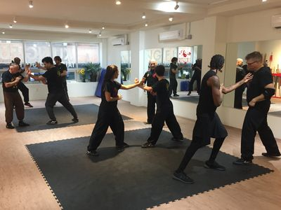 Typcial kung fu class in new york city