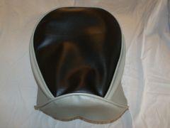 Baja Warrior heat Mini Bike Seat Upholstery Black With Light Gray Sides