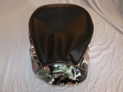 Baja Warrior heat Mini Bike Seat Upholstery Black With Green Snow Camo Sides