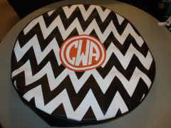 Chevron Monogram Spare Tire Cover CB CWA