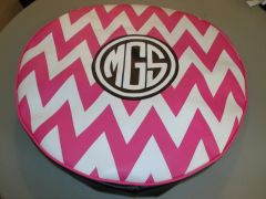 Chevron Monogram Spare Tire Cover CB MGS