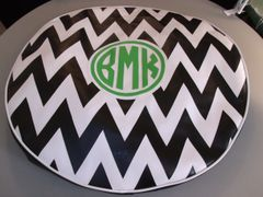 Chevron Monogram Spare Tire Cover CB BMK