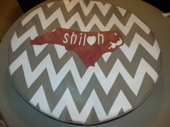 Chevron Monogram Spare Tire Cover Love North Carolina