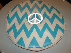 Chevron Monogram Spare Tire Cover Peace Sign