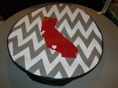Chevron Monogram Spare Tire Cover Love California