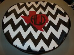 Chevron Monogram Spare Tire Cover Big Texas HLD