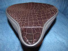 Beach Cruiser Seat Upholstery Dark Brown Gator And Black