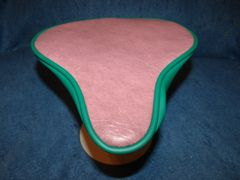 Beach Cruiser Seat Upholstery Dark Mauve And Green