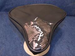 Beach Cruiser Seat Upholstery Black And Snake Skin