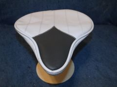 Beach Cruiser Seat Upholstery Light Gray Lines And Black