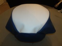 Baja Warrior Heat Mini Bike Seat Upholstery Whit / Royal Blue Sides