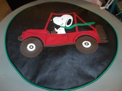 Jeep Tire Cover Snoopy Driving Jeep