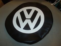 VW Black And White Tire Cover