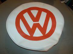 VW Van Orange And White Spare Tire Cover