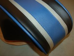 Coleman CT200U Mini Bike Seat Upholstery Blue Stripes