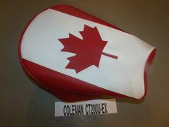 Coleman CT200U-EX Mini Bike Seat Upholstery Canadian Flag
