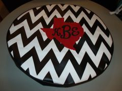 Chevron Monogram Spare Tire Cover Big Red Texas KBE