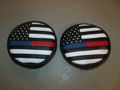Off Road Light Covers Police And Fireman Thin Blue And Red Line