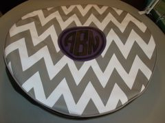 Chevron Monogram Spare Tire Cover CB ABN