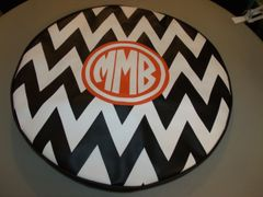 Chevron Monogram Spare Tire Cover CB MMB