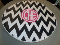 Chevron Monogram Spare Tire Cover CB CHE