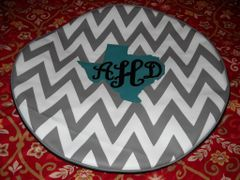 Chevron Monogram Spare Tire Cover Big Texas AHD