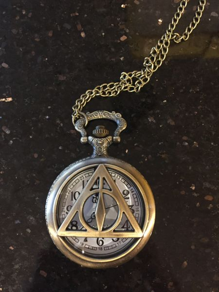 Harry Potter Deathly Hallows pocket watch