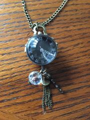 Globe watch pendant