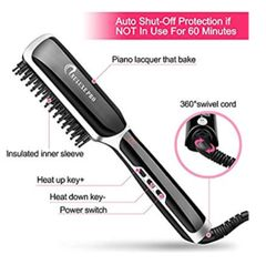 Ceramic Heated Beard Straightening Brush