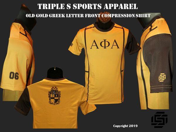 Alpha Phi Alpha Old Gold Compression Shirt