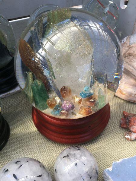 Giant Quartz Crystal and many Gems.