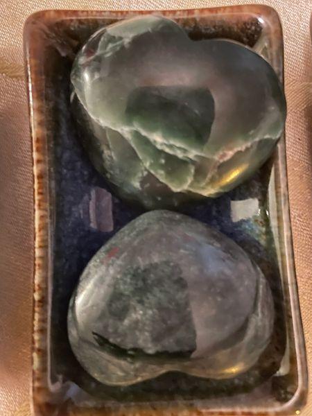 Quality Jade Heart palmstones.