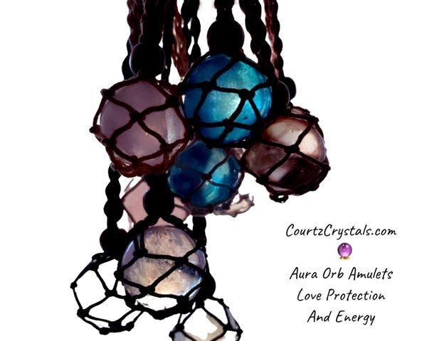 Aura Crystal Orbs Amulets