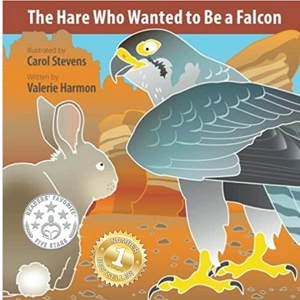 The Hare Who Wanted to Be a Falcon, an illustrated children's picture book, storybook, for kids.