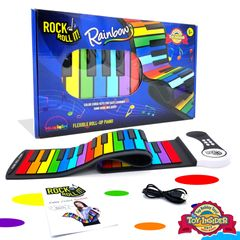 Rock And Roll It Rainbow Piano. Roll up rainbow colors portable keyboard & play-by-color songbook