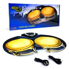 Rock And Roll It Bongos. Portable & flexible percussion with bongo, conga, tabla, & drum kit sounds